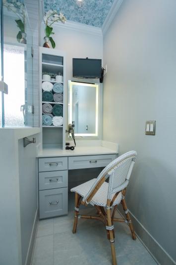 Master bath Custom vanity and storage
